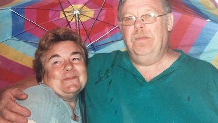 Marion and Brian before the weightloss. Picture: WEIGHTWATCHERS