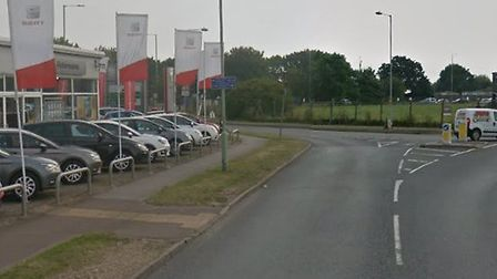 An crash took place in Cooke Road, Lowestoft, this morning Picture: GOOGLE MAPS