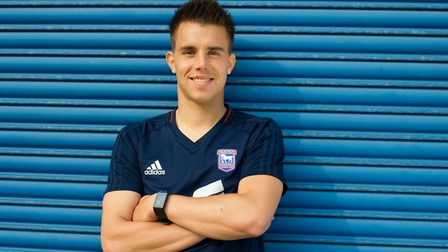 Ipswich Town player Jonas Knudsen has become a father while away with Denmark at the World Cup. Pic