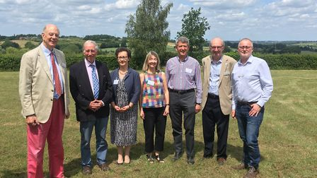 Speakers at the Dedham Vale AONB and Stour Valley Project 2018 - from left: Robert Erith, David Bark
