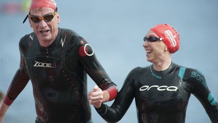 Swimmers took part in aid of a range of charities Picture: GREAT SWIM/PETER LANGDOWN
