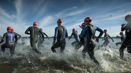 The wetsuits hit the water as the Great East Swim begins Picture: GREAT SWIM/PETER LANGDOWN