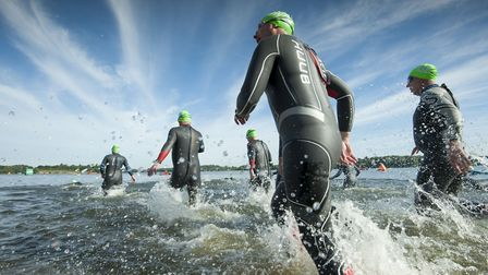Around 6,000 participants and spectators turned out for the county�s biggest open water swim Picture