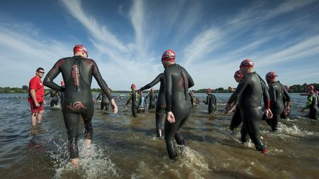 The swim is estimated to have raised �12,000 for official charity partner, Macmillan Picture: GREAT