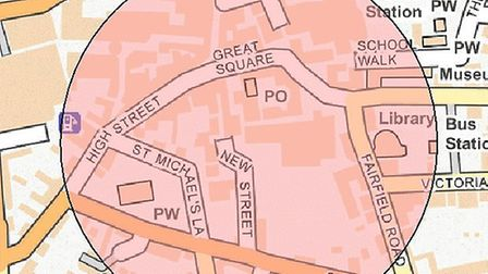 A dispersal order is in place in Braintree until midnight Picture: ESSEX POLICE