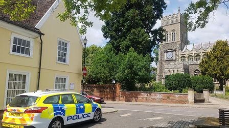 Police are investigating after a woman was raped in the churchyard of St Margaret's Church in Ipswic