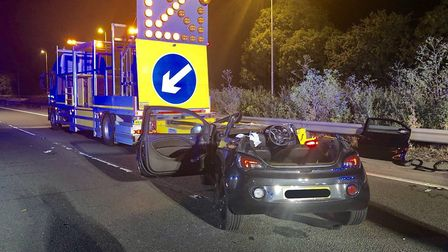 Police have appealed for witnesses after a crash on the A12 at Witham Picture: COLIN SHEAD