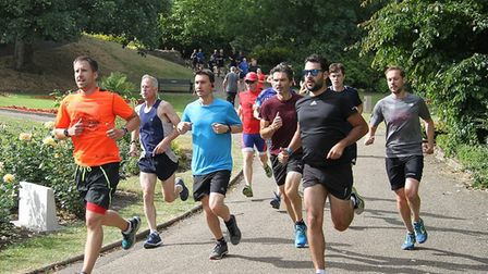 The pace is hot towards the head of the field. Picture: WILL CHANEY/COLCHESTER CASTLE PARKRUN FACEBO