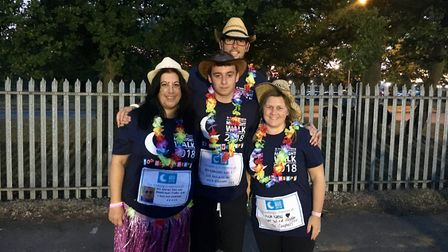Richard and Sarah Neal, Taylor Janna and Fran Campbell were walking in memory of their beloved frien