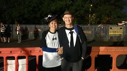 Husband and wife team, Lynn and Trevor Street, chose to walk in memory of Lynn's parents Fred and Ha