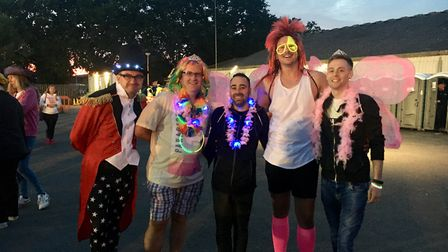 Paul, Justin, Alex, Carl and Dane donned their wackiest outfits to raise money for St Helena Picture