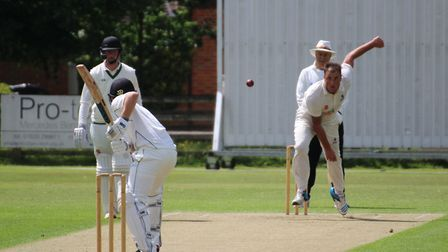 Michael Comber, who took the wickets of both openers during Staffordshire's big first innings total.