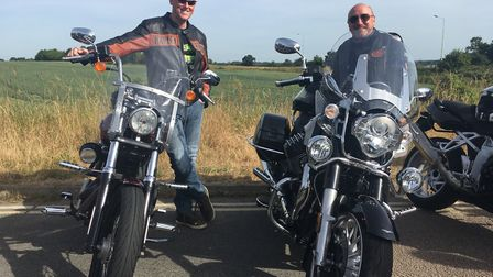Bikers meet at Ipswich before setting off on a ride through four counties organised by East Anglian