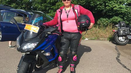 Gemma Summers, who was a marshall for the East Anglian Bikers ride Picture: GEMMA MITCHELL