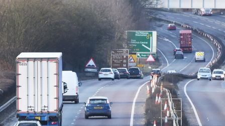 The A14 near Bury St Edmunds. Picture: GREGG BROWN