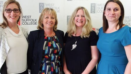 Left to right: Angela Smith, executive director Learner Partnerships, Jacqui Phipps, New Anglia Ente