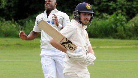 James Sturgeon, who scored 49 not out to nearly help secure a win for Bury in their drawn match agai