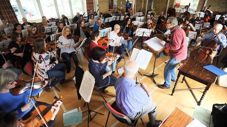 Ipswich Symphony Orchestra in rehearsals. Photo: Gregg Brown