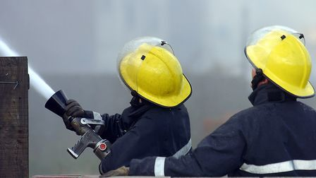 File image of Suffolk firefighters tackling a blaze Picture: OWEN HINES