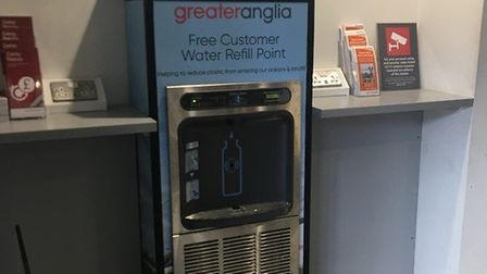 Greater Anglia has installed a new water fountain at Ipswich Station Picture: GREATER ANGLIA