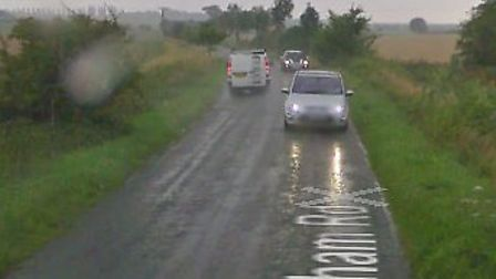 A car ended up in a ditch on Walsham Road Picture: GOOGLE MAPS