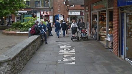 Lion Walk, in Colchester, where the slashing incident took place. Photo: Google Maps