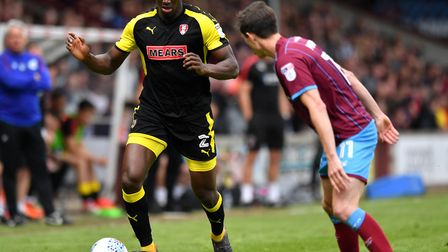 Josh Emmanuel (left) was at League One club Rotherham for the whole of last season. Photo: PA