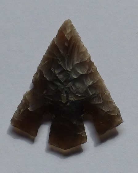 An arrow head found at the site Picture: WARDELL ARMSTRONG