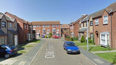 The alleged incident happened in Old Foundry Place, Leiston Picture: GOOGLE MAPS