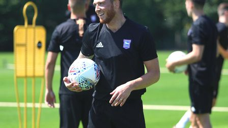 Joe Garner pictured on the first day of pre-season training. Picture: ROSS HALLS