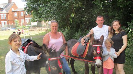 Donkey rides were on offer at the event Picture: CHARLES MOORE