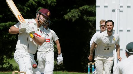 Mark Nunn, bowling, who scored 43 and then took two wickets in Worlington's win over Halstead. Pictu