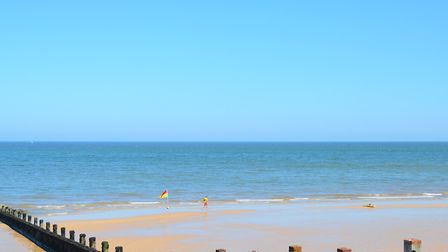 It's cooler on the coast - Sheringham was a lot more comfortable than Ipswich on Monday. Picture: IA