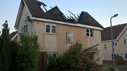 The aftermath of a fire in Ploughmans Lane, Great Notley Picture: ESSEX COUNTY FIRE AND RESCUE SERVI