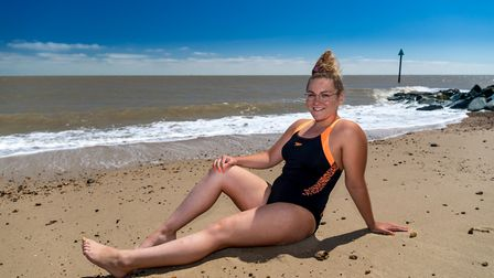 Channel swimmer Charlie Smith pictured on the beach at her home town of Felixstowe.Picture: Stephen