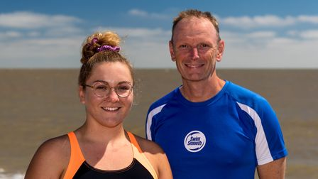Channel swimmer Charlie Smith pictured with her Swim Smooth coach Seamus Bennett.Picture: Stephen W