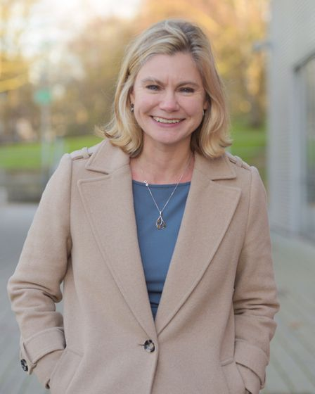 Former education secretary Justine Greening visited Ipswich to give her backing to the partnership l