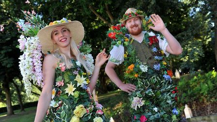 A warm and floral welcome to guests at the Geewizz Midsummer Night's Party Picture: LUCY TAYLOR PHO