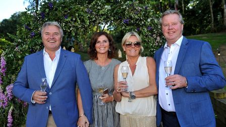 Paul and Geraldine Milsom with Joe & T Hills Picture: LUCY TAYLOR PHOTOGRAPHY