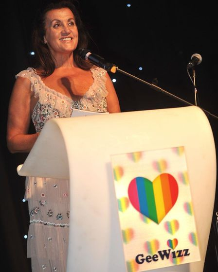 Gina Long MBE speaking to party-goers at the event Picture: LUCY TAYLOR PHOTOGRAPHY
