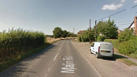 The incident happened on the B1456 near Chelmondiston Picture: GOOGLE MAPS