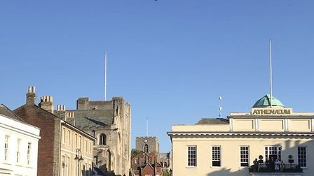 An Apache helicopter flypast over the Angel Hill, Bury St Edmunds Picture ST EDMUNDSBURY BOROUGH COU