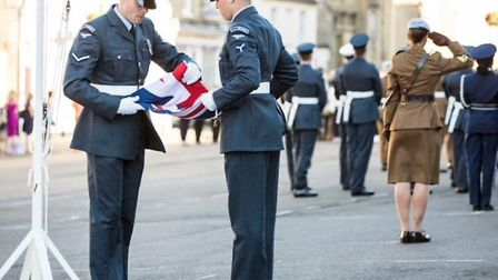 Military personnel from the Royal Navy, Army Air Corps, the RAF and USAF took part in the parade Pic