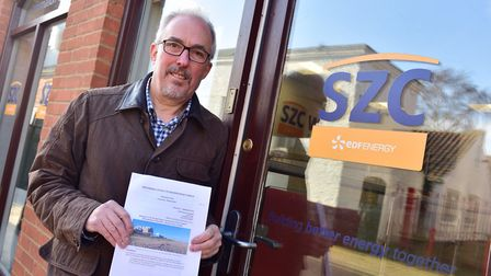 The TEAGS' Paul Collins wants EDF's chief to meet with campaigners face to face Picture: SARAH LUCY