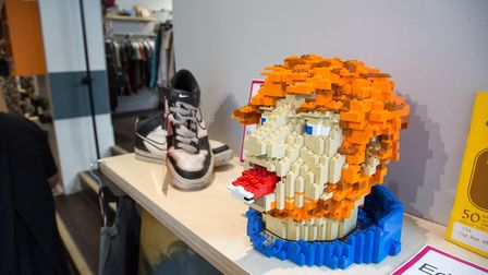 The 'Ed Head' - singer Ed Sheeran captured in Lego Picture: ADRIAN RAWLINSON