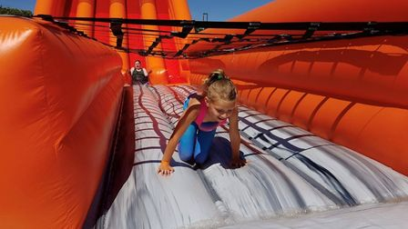 All ages enjoyed the obstacles, slides and other attractions Picture: DAN BYRNE