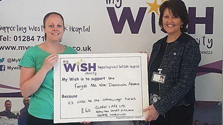 Sammy Willis and Lorraine Clarke, from Clarke Care, who have supported the My WiSH Charity's Forget