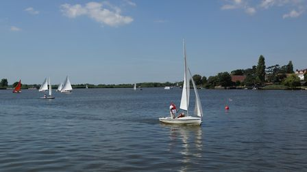 Sailing in Oulton Broad. Picture: PETER WILES