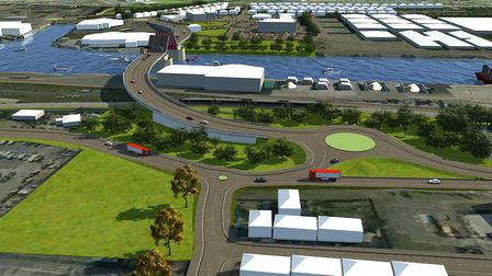 An artist impression of the Lake Lothing Third Crossing Project in Lowestoft Picture: KIER AND MOUCH