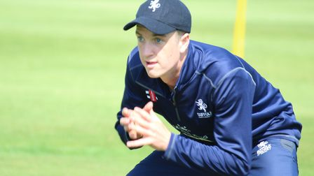 Josh Cantrell, who took four wickets in Suffolk's defeat at Staffordshire